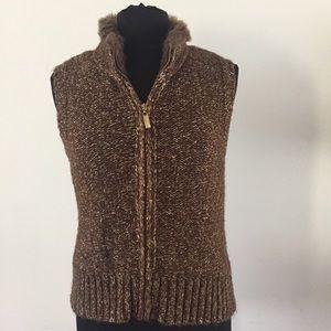 Charter Club Zipper Vest Women's Size Petite M